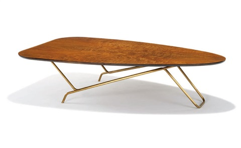 rare occasional table model 6401 by greta magnusson grossman