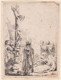 the crucifixion: small plate by rembrandt van rijn