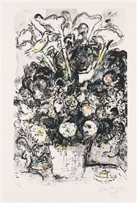 le bouquet blanc by marc chagall