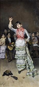 danseuse de flamenco by antonio maría de reyna manescau