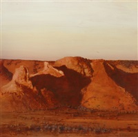 bluffs of alice springs by bryan westwood