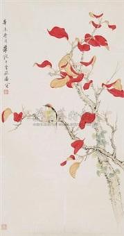 红叶翠鸟 by liang ji