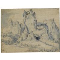 rugged mountain landscape by jan van scorel
