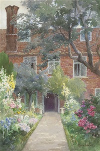 saling hall garden, essex, england by mary georgina barton
