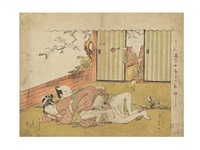 shunga print by isoda koryusai