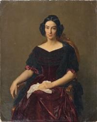 portrait de la comtesse caroline de vergès née caroline brochant de villiers by françois louis dejuinne