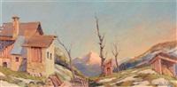 vieilles maisons du hameau des roches à saint colomban des villards by julien bouvier