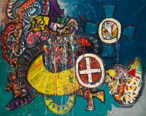 miraculous cross, mar 68 by alan davie