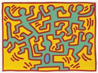 one plate from: growing by keith haring