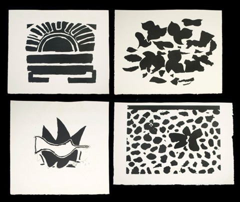 untitled 4 works from la liberte des mers by georges braque