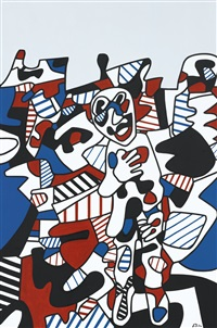 paysage avec personnage by jean dubuffet