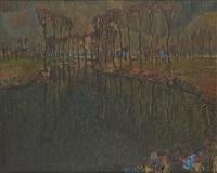 vue de la lys by albert saverys