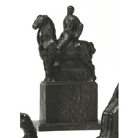 man on horseback by franz metzner