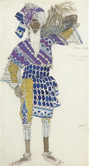costume design for le dieu bleu by leon bakst