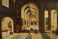 intérieur d'église by abel grimmer