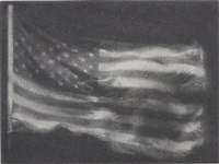 american flag no. 7 by zhang huan