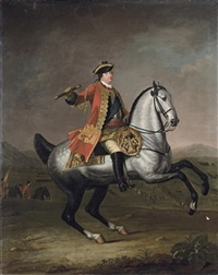 equestrian portrait of prince william augustus, duke of cumberland (1721-1765) by david morier