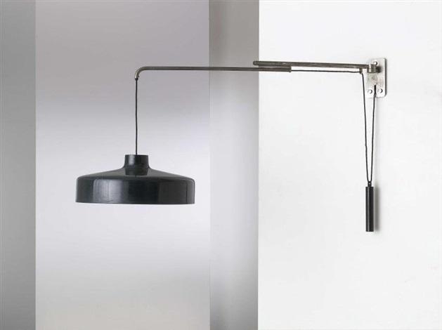 Lampada da parete estensibile mod n von gino sarfatti auf artnet