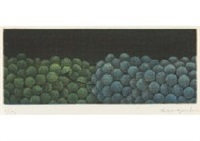 grapes in two colors by yozo hamaguchi