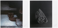 history of history - antigravity structure & carboniferous sea bottom, 290-333 million yearsold(2 works) by hiroshi sugimoto