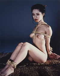 untitled (seated bound nude) from akt-tokyo, n.d by nobuyoshi araki