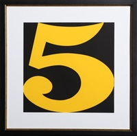 five from indiana graphik by robert indiana