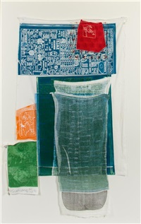 platter (from the airport series) by robert rauschenberg