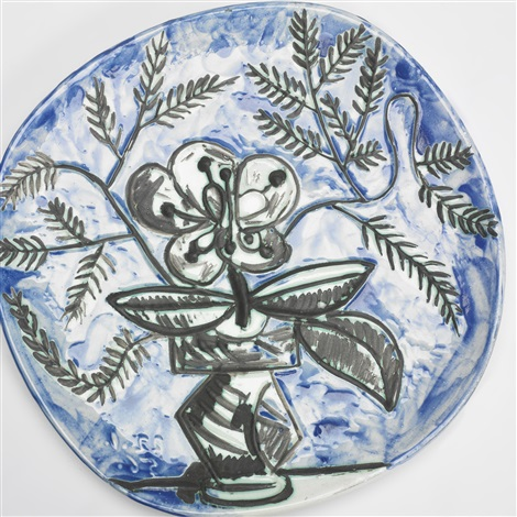vase with bunch plate by pablo picasso