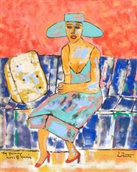 la femme avec le coussin by giorgio avanti
