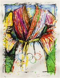 olympic robe (from games of the xxivth olympiad seoul 1988) by jim dine
