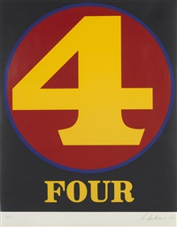 no. 4, from numbers by robert indiana