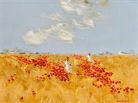 playing in the poppy field by thelma mansfield