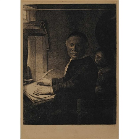 lieven willemesz van coppenol the smaller plate by rembrandt van rijn