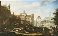 rome, a view of the campo vaccino by jacob de heusch