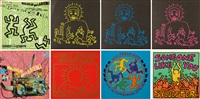 disques (set of 8) by keith haring