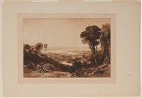 the junction of the severn and the wye, from liber studiorum by joseph mallord william turner