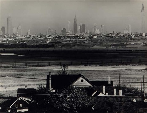 new york city scape from new jersey by andreas feininger