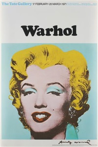 marilyn (exhibition poster for warhol: the tate gallery) by andy warhol