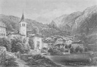 gebirgsdorf an einem see by joseph gerstmeyer