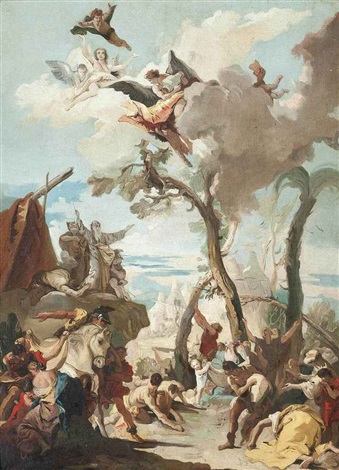 the gathering of manna by giovanni battista tiepolo