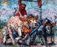 karapan sapi (bull race) by awiki