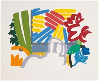 study for still life with matisse & johns by tom wesselmann