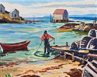 blue rocks, nova scotia by earl bailly