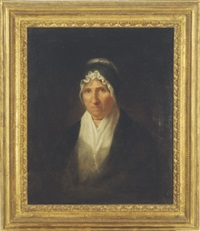 portrait of mrs. william channing by washington allston