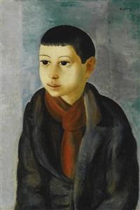 portrait d'un jeune garçon by moïse kisling