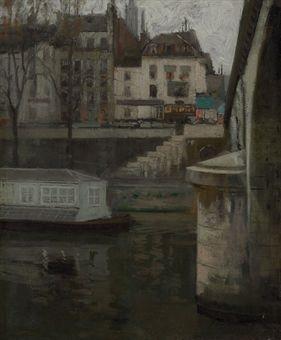 along the seine paris by richard edward miller