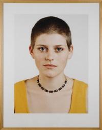portrait (a. vollmann) by thomas ruff
