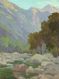 matilija canyon stream by marion kavanaugh wachtel