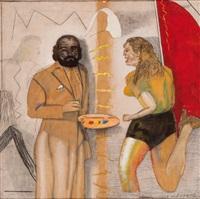 el pintor y la modelo by pat andrea