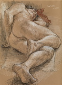 sleeping male nude (nm 254) by paul cadmus